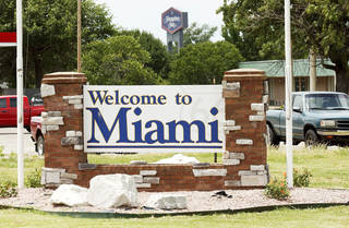 A sign welcoming visitors to Miami, Okla. and not Florida Wednesday June 20, 2012. Gary Crow, for the Oklahoman