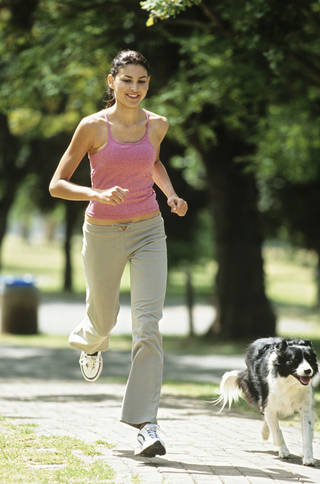 It's important to consider breed and build to make sure you're evenly matched with your dog as an exercise companion. Stockbyte photo. Stockbyte