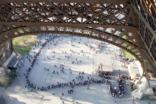 Smart travelers can skip the line to buy tickets for the Eiffel Tower if they book online in advance. Photo by Laura VanDeventer