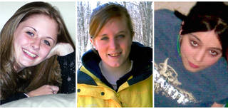This combination of undated family photos shows, from left, Amber Marie Rose, Natasha Weigel, and Amy Rademaker. All three were killed in deadly car crashes involving GM's Cobalt during 2005-2006. AP Photo Uncredited - AP