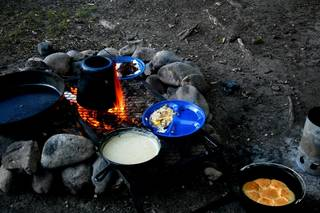 A campfire breakfast is a great way to start the day. Photo by Donny Carter, For The Oklahoman