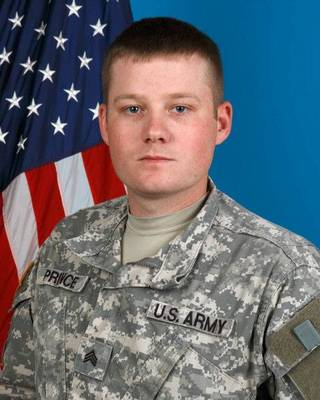 U.S. Army Sgt. Mycal L. Prince, 28, of Minco Sgt 1st Class Kendall James - Provided