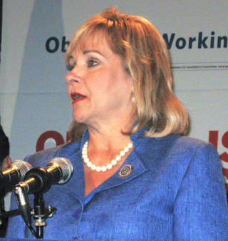 Gov. Mary Fallin speaks Wednesday at a Republican news conference in Charlotte, N.C. Photo by Chris Casteel, The Oklahoman