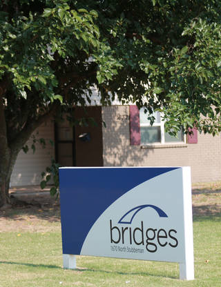 The Bridges Norman sign outside of the student apartments.