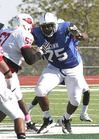 Oklahoma State offensive line commitment Chris Grishby. PHOTO COURTESY BLINN SPORTS INFORMATION