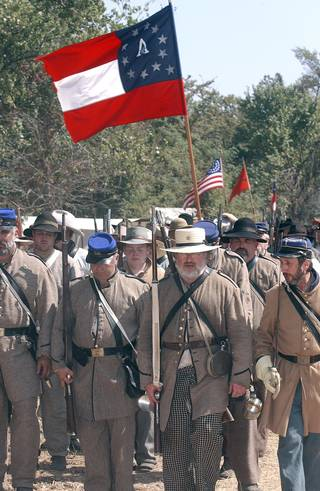 Re-enactors play out the Battle of Honey Springs.OKLAHOMA TOURISM
