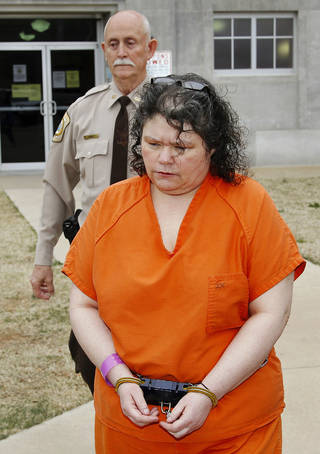 Former McLoud schoolteacher Kimberly Crain was sentenced to 45 years in prison for sex crimes against children on March 22 by a Pottawatomie County district judge. Photo by Jim Beckel, The Oklahoman Jim Beckel - THE OKLAHOMAN