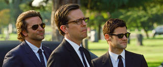 """Bradley Cooper, Ed Helms and Justin Bartha star in """"The Hangover, Part III."""" Bartha will appear later this year in """"CBGB,"""" a film about the legendary New York punk club. Courtesy Warner Bros. Pictures"""