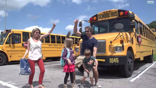 "To share in the range of emotions involved in children returning to school one family decided to parody Sir Mix-A-Lot's ""Baby Got Back"" — don't pretend you've never heard of it (or are singing it right now) — with their rendition of ""Baby Got Class."" (Courtesy: YouTube)"