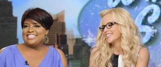 """THE VIEW - (4.29.13) On today's show, guest co-host Jenny McCarthy joins the ladies; ?Whoopi?s Shoe View? begins with a peek at her one-of-a-kind shoe collection; Rebel Wilson (?Pain & Gain?) appears; Sherri Shepherd shares her guide to losing weight and beating diabetes with her new book, Plan D; and musical guest Fantasia performs. """"The View"""" airs Monday-Friday (11:00 am-12:00 pm, ET) on the ABC Television Network. (Photo by Donna Svennevik/ABC via Getty Images) WHOOPI GOLDBERG, SHERRI SHEPHERD, JENNY MCCARTHY, ELISABETH HASSELBECK"""