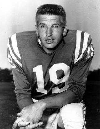 This is a July 18, 1960 photo of quarterback Johnny Unitas of the Baltimore Colts. Unitas, the Hall of Fame quarterback who broke nearly every passing NFL record and won three championships with the Baltimore Colts in an 18-year career. (AP Photo)