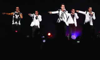 The New Kids on the Block perform during a concert at Chesapeake Energy Arena in Oklahoma City, Saturday, June 29, 2013. Photo by Bryan Terry, The Okahoman