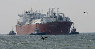 The Excelsior arrives at the Freeport LNG terminal in Houston in April 2008. The Energy Department has given conditional approval to Freeport LNG Expansion L.P., based in Freeport, Texas, to export liquefied natural gas, the second LNG export project the Obama administration has approved as it faces a wave of export requests. AP FILE PHOTO Steve Campbell - AP