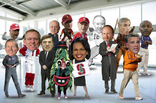 The new College Football Playoff committee. ILLUSTRATION BY ROB BACKUS, The Oklahoman
