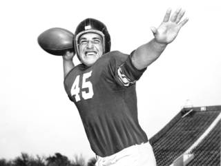 Former OU All-American quarterback Jack Mitchell died Sunday. Photo from The Oklahoman Archive