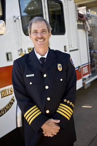 Terry Hamilton has been promoted to Nichols Hills fire chief position. Provided. ORG XMIT: KOD