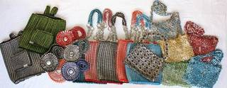 These pop-tab purses were created by Sister Rosemary Nyirumbe and the women at her St. Monica's Tailoring School in Gulu, Uganda. Photo provided