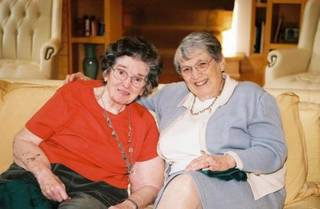 Faye Allen, right, and her late sister, Jo Grubbs (PRNewsFoto/Vulcan Inc.)