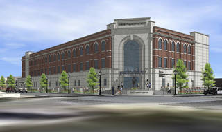 Edmond's new public safety center will be built on the southeast corner of First Street and LIttler Avenue. ARCHITECT DRAWING PROVIDED. FRANKFURT SHORT BRUZA. PROVIDED