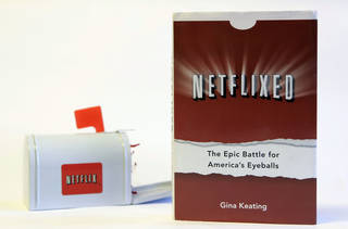 Gina Keating's book Netflixed: The Epic Battle for America's Eyeballs is shown. AP Photo