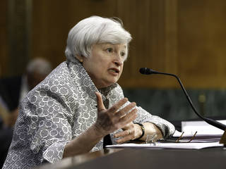 Federal Reserve Chair Janet Yellen testifies Tuesday on Capitol Hill in Washington, before the Senate Banking Committee. AP Photo J. Scott Applewhite