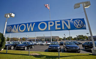The new Bob Howard Volkswagen dealership located on Broadway Extension in Edmond. PHOTO BY CHRIS LANDSBERGER, THE OKLAHOMAN CHRIS LANDSBERGER - CHRIS LANDSBERGER