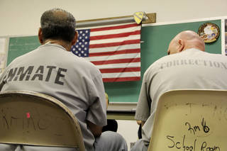 Inmates share their stories about life after war and dealing with post-traumatic stress disorder. Photo by Darryl Golden, The Oklahoman