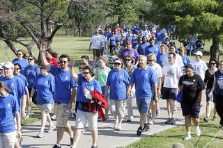 FUNDRAISER / BENEFIT: Walkers participate in the NAMI (National Alliance on Mental Illness) walk at Stars and Stripes Park in Oklahoma City, OK, to raise money for mental illness causes, Saturday, May 19, 2012, By Paul Hellstern, The Oklahoman PAUL HELLSTERN - Oklahoman