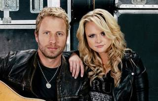 Country music superstars Dierks Bentley and Miranda Lambert, who lives in Tishomingo, are planning a 2013 co-headlining tour. Photo provided.