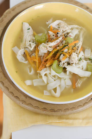 Chicken and shirataki noodle soup is fast, delicious and good for you. Matthew Mead - AP