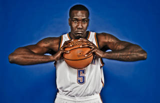 The Thunder's Kendrick Perkins will finally be able to play without knee braces after three injury-plagued seasons. Photo by Chris Landsberger, The Oklahoman