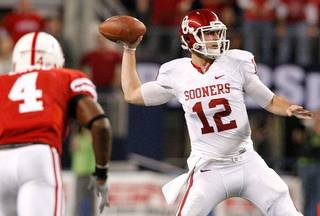 Landry Jones and Oklahoma host Kansas on Saturday at 6 p.m. PHOTO BY BRYAN TERRY, THE OKLAHOMAN ARCHIVE