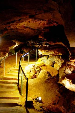 A tour of the Alabaster Caverns in the state park near Selman Ranch. PHOTO PROVIDED.