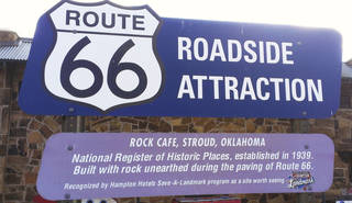 The Rock Cafe is a popular stop along Route 66.