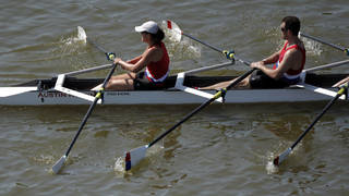 Rowers compete in the USRowing Masters National Championships on the Oklahoma River, Sunday, Aug. 14, 2011. Photo by Sarah Phipps, The Oklahoman