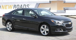 The 2014 Chevrolet Malibu is unveiled May 31 on Belle Isle in Detroit. General Motors is recalling more than 140,000 2014 Chevrolet Malibu midsize cars. AP File Photo Carlos Osorio - AP