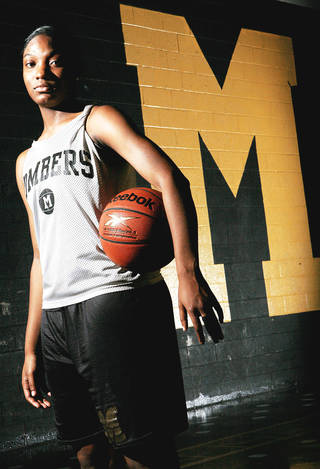 Midwest City's Richa Jackson has been named to the McDonald's and Parade All-America teams. The 6-foot-1 Jackson is a Duke signee. Photo By John Clanton, The Oklahoman
