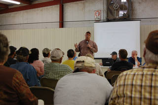 Cimarron County Sheriff Leon Apple tells Boise City residents gathered for a July 1 town hall meeting to remain civil. The meeting was held to discuss concerns over a large family associated with the Fundamentalist Church of Jesus Christ of Latter Day Saints.