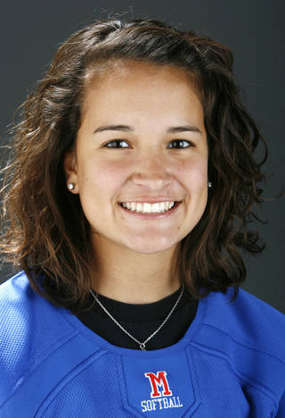 All City player Sydney Garcia, Moore, softball, in the OPUBCO studio, Monday, Dec. 15, 2008. BY NATE BILLINGS, THE OKLAHOMAN ORG XMIT: KOD