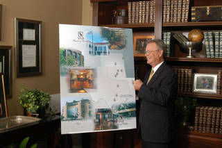 A file photo shows Rick Green, president and chief executive officer of Southwest Bancorp, at a company growth and branding strategy session in his office at the company's headquarters in Stillwater. PHOTO PROVIDED BY SOUTHWEST BANCORP
