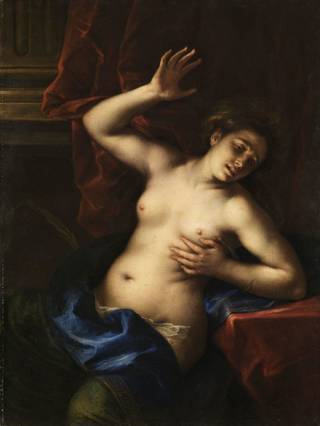 """""""Death of Cleopatra,"""" circa 1645-50, by Francesco del Cairo, is featured in the exhibit """"Of Heaven and Earth: 500 Years of Italian Painting from Glasgow Museums"""" at the Oklahoma City Museum of Art. Photo provided by American Federation of Arts"""