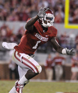 OU football player Tony Jefferson says he's fine with jumping from position to position in the Sooners defense. Photo by The Enid News & Eagle