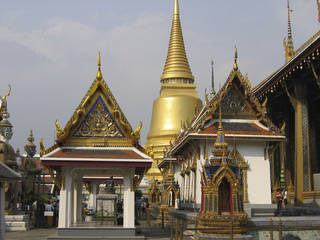 Magnificent structures are everywhere on the grounds of Thailand's Grand Palace in Bangkok. Photo courtesy of Barbara Selwitz.