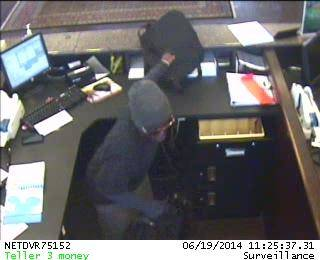 Surveillance photo of a bank robbery Thursday at IBC Bank, 5701 N May Ave., in Oklahoma City. Provided by the FBI