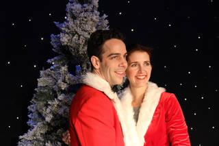 "Brandon Adams and Robin Huston star as Bob Wallace and Betty Haynes in the Sooner Theatre production of ""Irving Berlin's White Christmas."" Photo provided Photo provided"