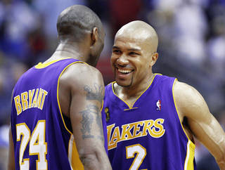 Derek Fisher returns to Los Angeles for his final game against the Lakers on Sunday. AP Photo