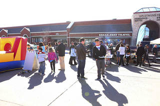 Visitors participate in a kick-off carnival outside the new JourneyChurch.tv Southwest Oklahoma City campus at 10601 S Western. Photo provided by sharleerotherphotography.com