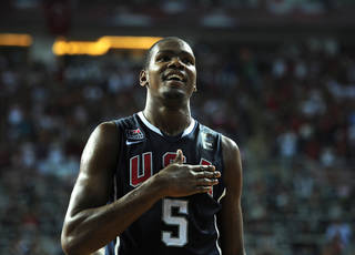 Kevin Durant was the MVP at the FIBA World Championship this summer. AP PHOTO