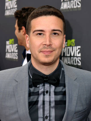 IMAGE DISTRIBUTED FOR MTV - Vinny Guadagnino arrives at the MTV Movie Awards in Sony Pictures Studio Lot in Culver City, Calif., on Sunday April 14, 2013. (Photo by John Shearer/Invision for MTV/AP Images) ORG XMIT: INVL