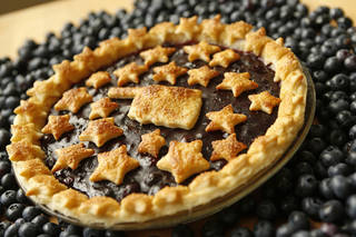 A blueberry pie made with blueberries from Broken Arrow's Thunderbird Berry Farm for the Fourth of July Oklahoma Table, in Oklahoma City, Wednesday, June 25, 2014. Photo by Nate Billings, The Oklahoman